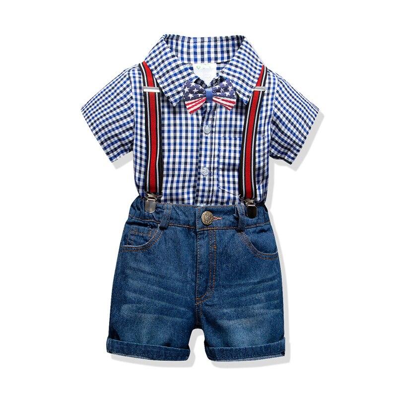Ubranka zestaw letnie chłopięce koszule krótkie spodenki
