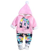BibiCola Girls Boys Winter Warm Thick Clothing Sets Fashion  Baby Infant Spring Autumn Cute Outfits For Girl clothing
