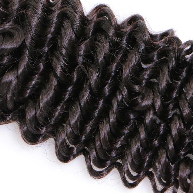 Queen hair товары глубокие волны Индийского Плетение волос 4 шт./лот Связки сделки Remy Инструменты для завивки волос натуральные волосы расширение 1B натуральный Цвет