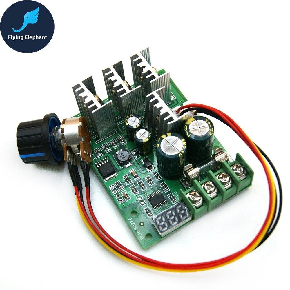 PWM DC 6-60V Motor Speed Control Speed Regulator 30A 6V 12V 24V 48V Digital Display Dimmer Current Module 48v fan temperature control speed regulator chassis fan speed regulation module pwm