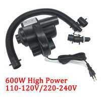 2018 Electric Air Pump 600W High Power Air Compressor for Air Bed Mattress Inflatable Hovercraft Boat Pump AC 220V-240V Adapter