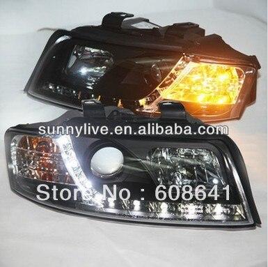 LED Head Light For Audi A4 B6 LED head lamp 2001 2004 year V1 Type