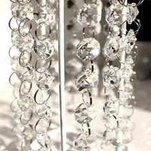 1 м украшение для дома кристально чистый акриловый шарик подвески-гирлянды для люстры Свадебные украшения вечерние праздничные Принадлежности Декор, Q