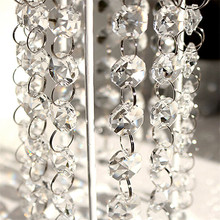 1 M Decoration for Home Crystal Clear Acrylic Bead Garland Chandelier Hanging Wedding Decoration Party Festive Supplies Decor,Q