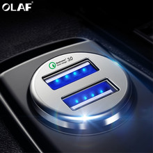 Olaf Quick Charge 3 0 Dual USB Car Charger Portable Fast Charging Adapter For iPhone XS Max Samsung Xiaomi Tablet Phone Charger cheap MEIZU APPLE Nokia SONY Motorola Other Blackberry Lenovo Huawei Universal 5V 3A Qualcomm Quick Charge 3 0 Qualcomm Quick Charge 2 0