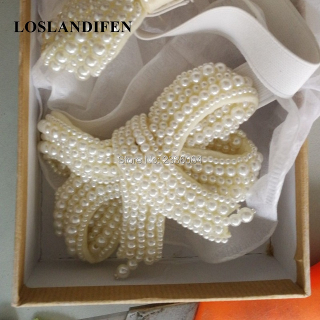 Fashion Luxury Stretch Strap White Pearls Bowknot Black Pink Gold  Rhinestone Removable Crystal Bow For Pumps Sandals Shoes Woman 8bbfd5f07d2a