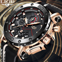Relogio Masculino 2019 New LIGE Sport Chronograph Mens Watches Top Brand Casual Leather Waterproof Date Quartz Watch Man Clock