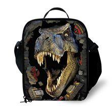 Детская сумка для ланча с принтом динозавра прочный изолированный