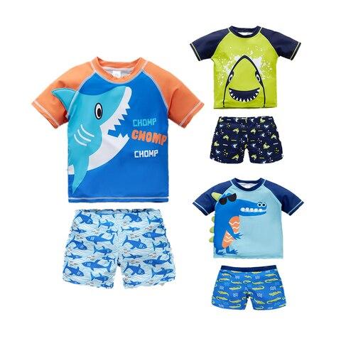 nova moda criancas meninos natacao wear legal animais dos desenhos animados impresso bebe menino maio
