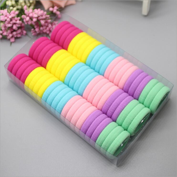 3cm 66pcs/pack Elastic Hair Bands Rope Scrunchie Hair Bands For Girls Haar Hair Accessories Kids Children Headwear Kk1717