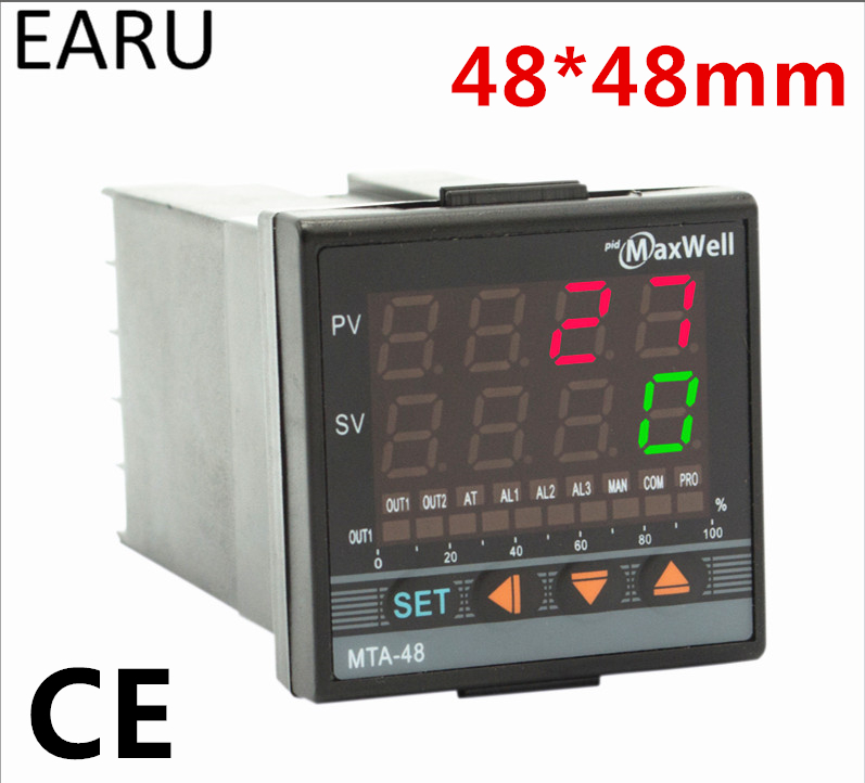 Digital Temperature Controller Control 48*48mm AC85-265V Power Thermocouple Universial K J PT100 Input SSR Relay 4-20mA Output