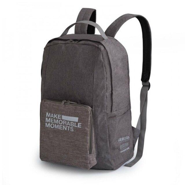 Nova Ultraleve Unisex Mochila de Poliéster Simples Portátil Dobrável saco de Viagem Mochila Homens e Mulheres Saco Da Bagagem 2 Cores