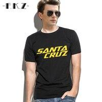 FKZ 2017 Summer T Shits Men Skateboard Skate Santa Cruz Printed T Shirt Men Shirts Camiseta