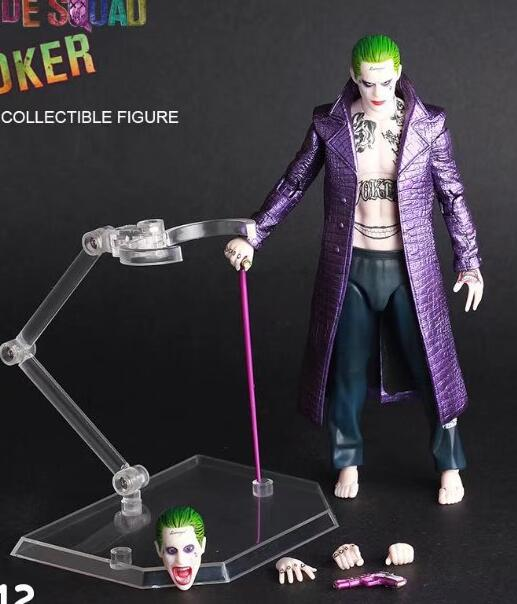 30cm DC Suicide Squad Joker Cloth 1:6 doll Anime Figure PVC Collection Model Toy Action figure for friends gift