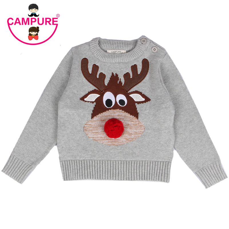 CAMPURE Newborn Clothes Christmas Baby Christmas Deer Sweater Winter Boys Pullover Sweaters Knitted Baby Boys Outwear