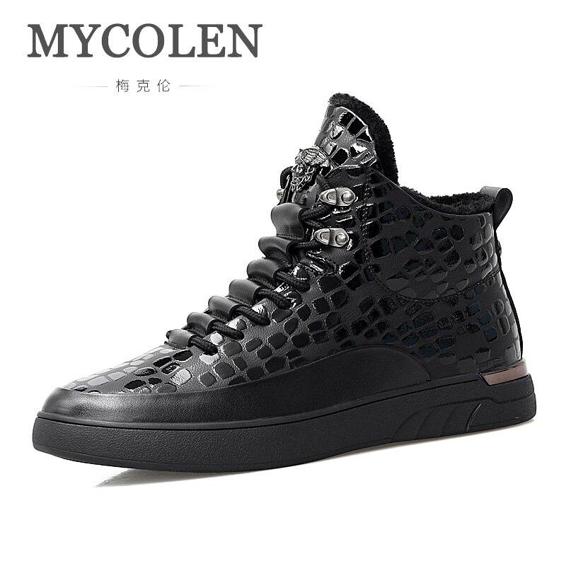 MYCOLEN Men Shoes Autumn Winter Top Fashion Sneakers Luxury Product Men High-Top Lace-Up Wear-Resistant Man Shoes Soulier Homme