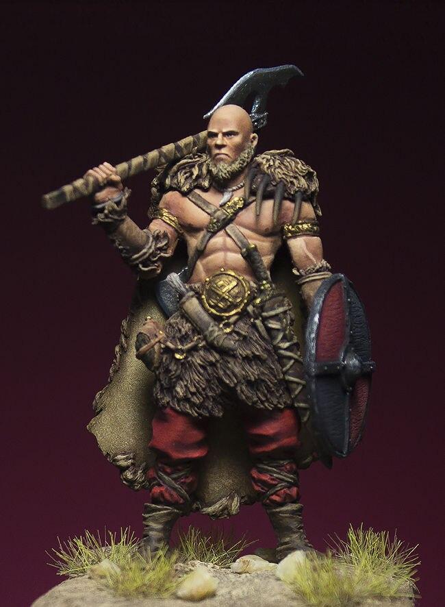 1//32 54mm Resin Figure Model Kit Warrior Barbarian Unassambled Unpainted