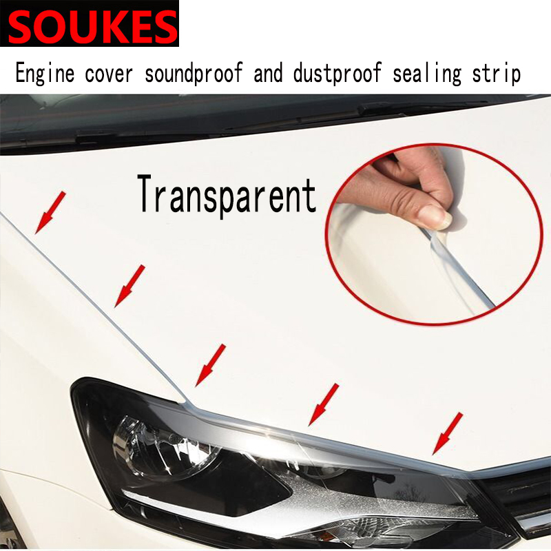 150cm Car Stickers Head Engine Hood Soundproof Sealing Strips For Citroen C5 C4 C3 Mini Cooper Opel Astra H G J Vectra C Saab in Car Stickers from Automobiles Motorcycles