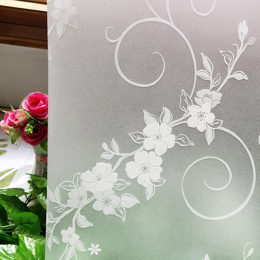 US $17 02 35% OFF|2019 new static non adhesive window film,stain heat  insulation glass stickers,frosting decorative art for bathroom door  bedroom-in
