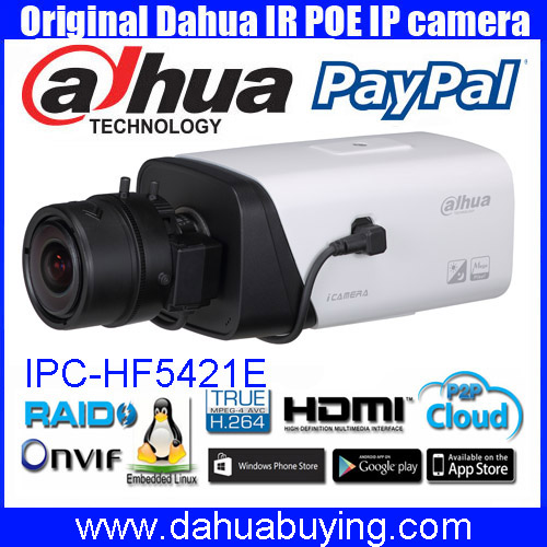 Original english Dahua CCTV 4MP WDR Smart Detection POE Full HD Network Camera IPC HF5421E free