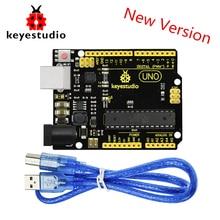 цена на NEW Version! Keyestudio Super UNO R3 ATmega 328 Board Advanced MP2307DNSOP-8 +USB Cable For Arduino UNO R3 DIY Project