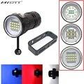 Новый светодиодный фонарик для дайвинга 80 м XHP70/L2 для фотосъемки видео камера тактический фонарик синий + белый светодиодный фонарик