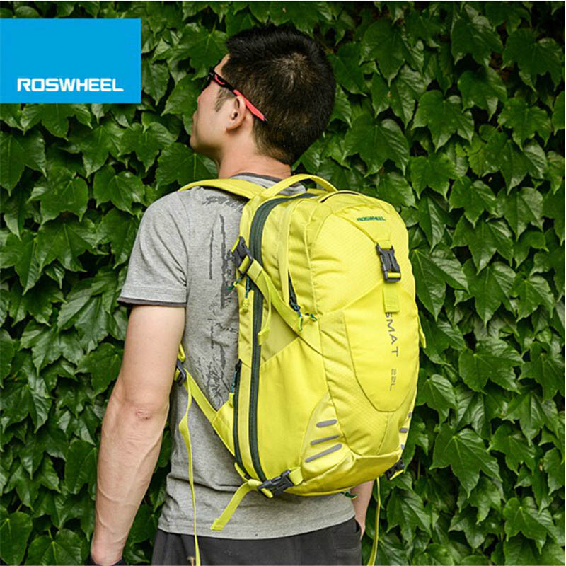 ROSWHEEL Multi Function Outdoor Sports Backpack Bike Bag Bicycle Bag 22L Cycling Bag Accessories With Waterproof Cover