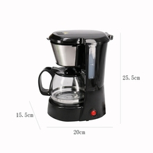 650Ml Electric Automatic Drip Coffee Maker Household Coffee Machine Coffee Pot Mini American Drip Coffee Machine for Make Tea цена