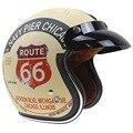 Harley Style Lucky 13 design Motorbike Helmet 3/4 Classic chopper helmet 3 pin with visor DOT approved USA style helmet