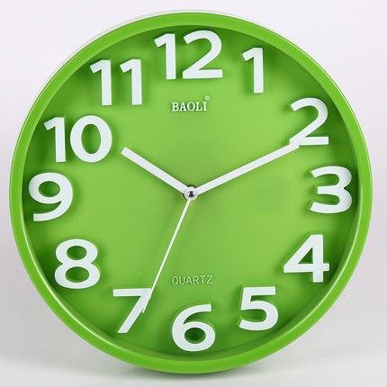 12 collu radošs modes pulkstenis dzīvojamā istabā Mūsdienu īss - Mājas dekors - Foto 4