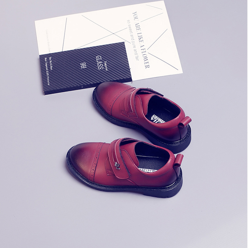 ActhInK New Kids Genuine Leather Wedding Dress Shoes for Boys Brand  Children Black Wedding Shoes Boys ... c5a50c787538