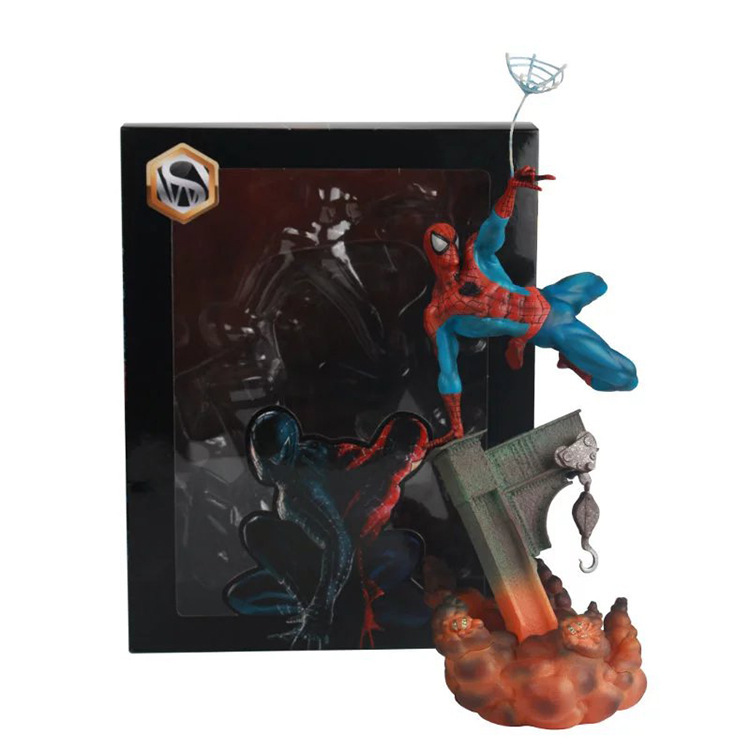 The Avengers Superman Action Figures Model PVC RED/BLACK Superman With Scene Toys Anime Figures Toy dc comics superman green lantern the flash the atom black canary pvc action figures collection model toys 15pieces set
