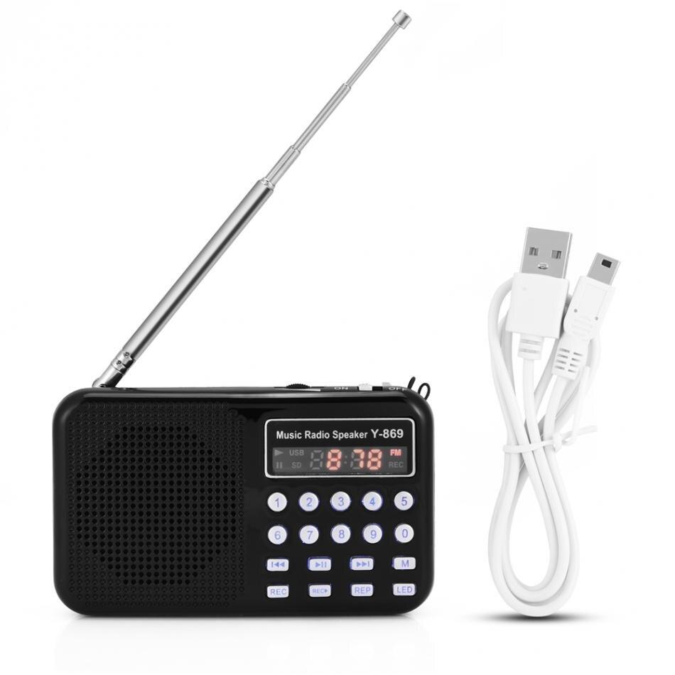 VBESTLIFE Portable Digital Audio Music Player Speaker LED Flashlight Support FM Radio TF Card USB Disk
