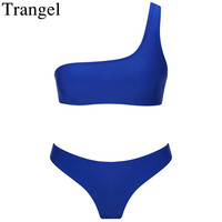 Trangel 2018 New Sexy Brazilian Bikinis Women Padded Biquini Push Up Swimsuit Solid Color Swimwear Women