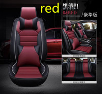 PU Leather Car Seat Covers Universal Full Seat Covers for Mercedes Benz W203 W210 W211 AMG W204 C E S CLS CLK CLA SLK A20