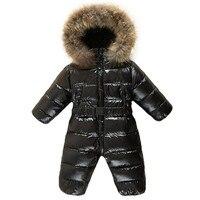 Cekcya Children's Winter Jumpsuit Infant Snowsuit Baby Thick Down Fur Coat Newborn Snow Wear Rompers for Boy Girl Parka Costumes