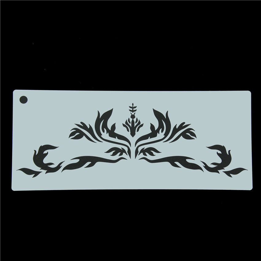 Crown Fondant Cake Stencil Frostings Spray Biscuit Stencils DIY Cake Border Decoration T ...
