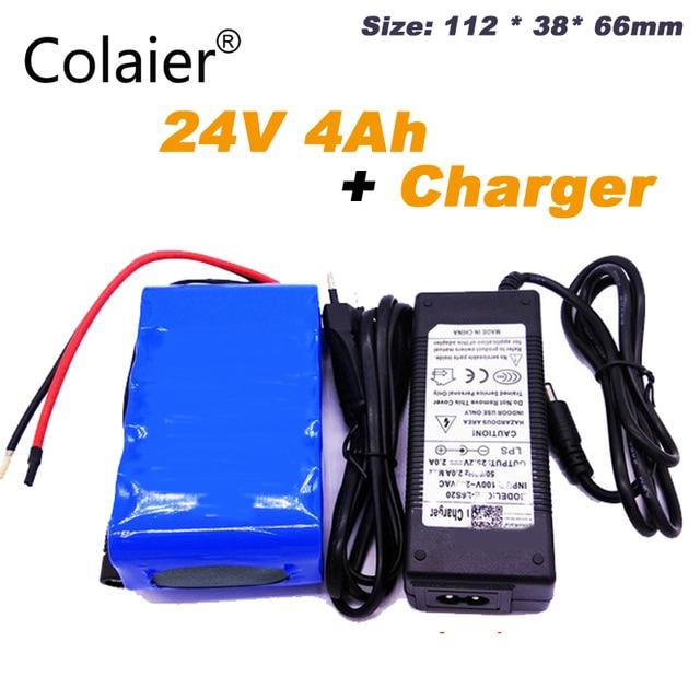 Colaier بطارية قابلة لإعادة الشحن لمصابيح LED والكاميرا ، شاحن محمول صغير 24 فولت ، 4000 ، 18650 ، 25.2 مللي أمبير ، 4000 فولت