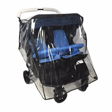 Weather Shield for double Stroller Rain Cover Universal Side By Side baby Pram Waterproof Stroller Accessories Wind Dust Shield universal baby canopy waterproof stroller rain cover wind shield most stroller pushchairs pvc environmental material