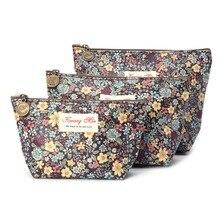 все цены на 2019 New Vintage Floral Waterproof Pencil Pen Case Bag Cosmetic Makeup Storage Bags Purse онлайн