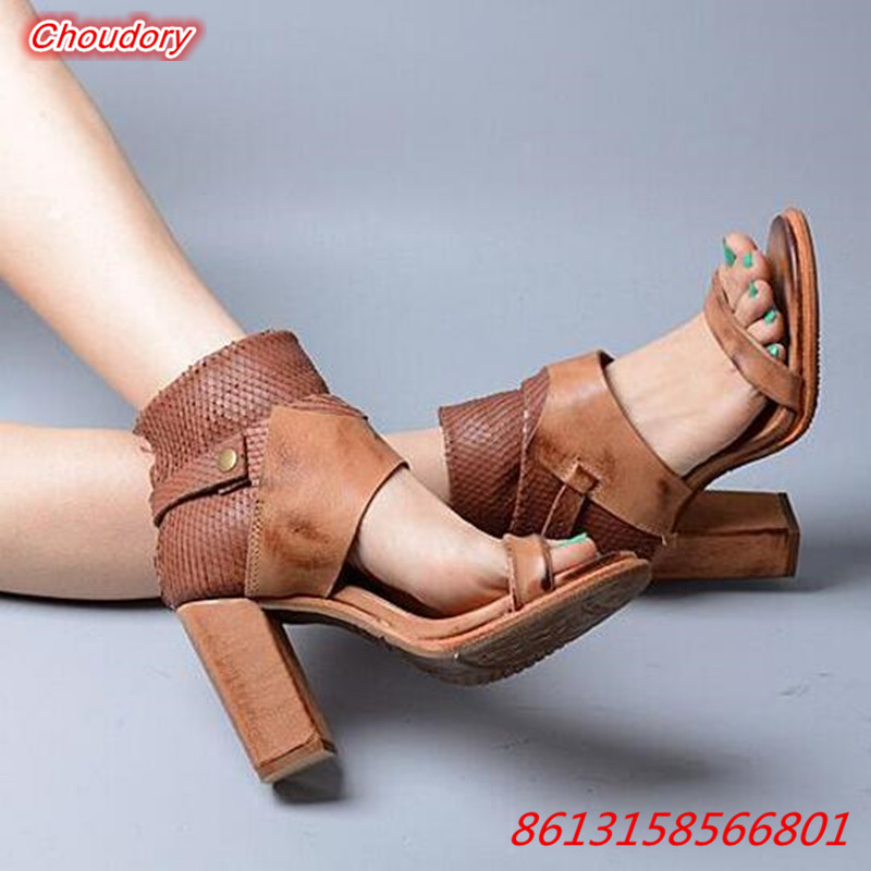 Mixed Colors Open Toe font b Women b font Sandals Boots Shallow Ankle Buckle Rome High