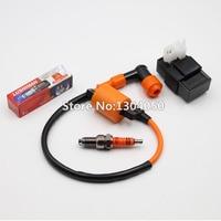 High Performance Ignition Coil 6 Pin AC CDI 3 Electrode D8TC D8TJC Spark Plug CG 125