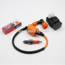 high performance ignition coil + 6 pin ac cdi 3-electrode d8tc d8tjc spark  plug cg 125 150 200 250 cc atv dirt bike new