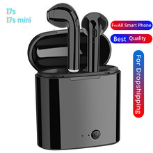 I7s Wireless Earbuds Mini Bluetooth In-ear Earphones Dual Stereo Sweatproof Built-in Mic With Charging Box For Smart Phone qcy q29 mini wireless bluetooth 4 1 dual earphones with mic black