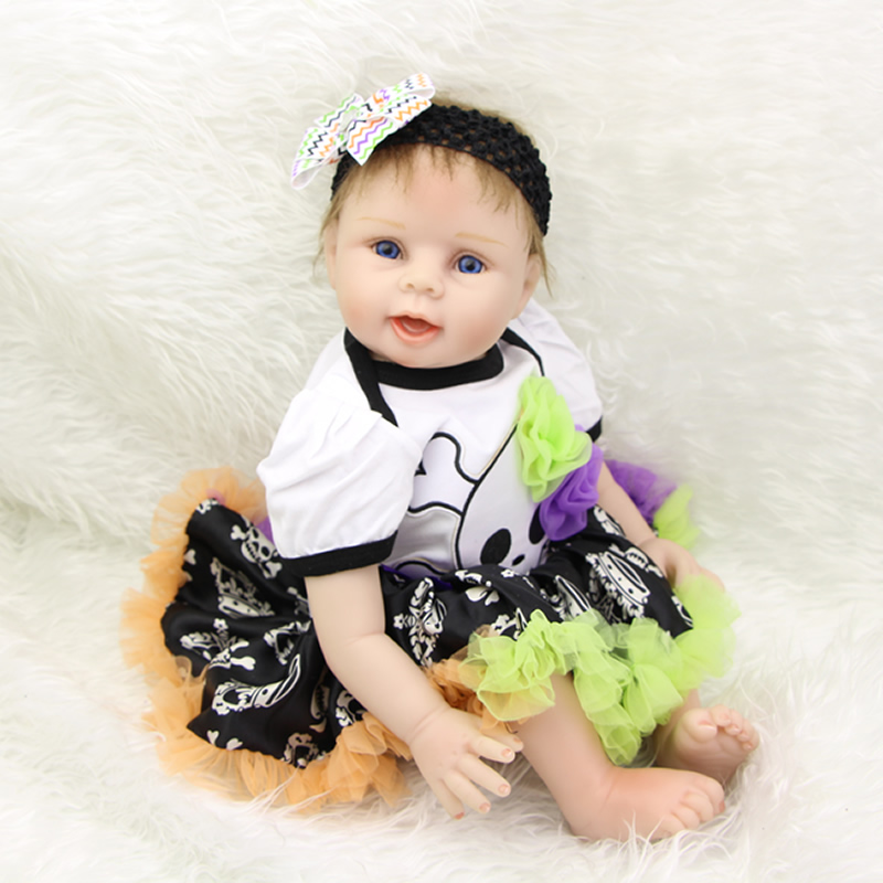 Lovely 22 Inch Realistic Girl Baby Dolls Silicone Soft Reborn Kids That Look Real Kids Birthday Xmas Gift Free Magnet Pacifier hot sale 2016 npk 22 inch reborn baby doll lovely soft silicone newborn girl dolls as birthday christmas gifts free pacifier