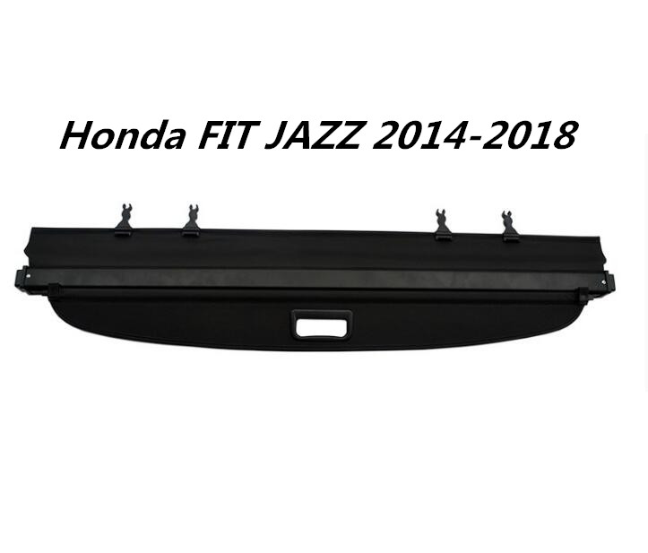 jinghang high quality car rear trunk security shield cargo cover for honda fit jazz. Black Bedroom Furniture Sets. Home Design Ideas