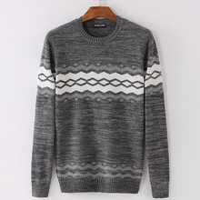 PORT&LOTUS Men Sweater Solid Pullover Brand Clothing O-Neck Print Long Sleeve Sweaters LSLSQF1555