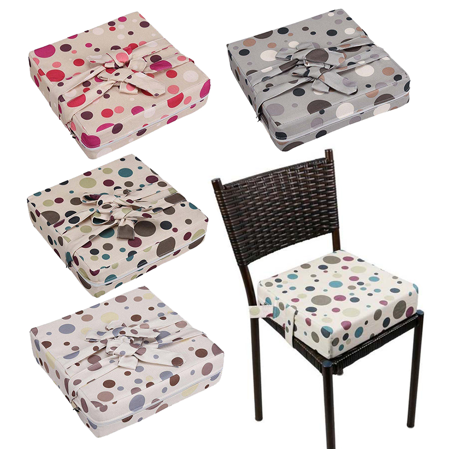 4 Color Dot Baby Dining Chair Cushion Portable Children Chair Booster Cushion Kids Seat Heighten Pad Height Increase Mat 8CM