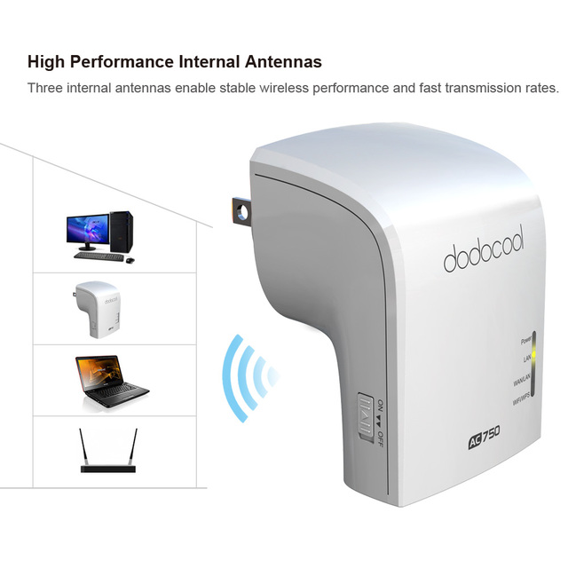 dodocool Dual Band 2.4GHz 300Mbps 5GHz 433Mbps Wireless WiFi Router Repeater Signal Booster Roteador 802.11a/b/g/n/ac Router