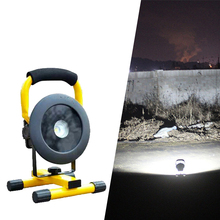 LED Portable Rechargeable Floodlight COB 30W Flood light Waterproof Third gear dimming Outdoor lights Warning light lawn light